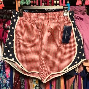 NWT Lauren James patriotic shorty shorts